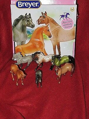 Breyer Horse Crazy Surprise! Stablemates-Full Set of 6~Green Friesian Mystery