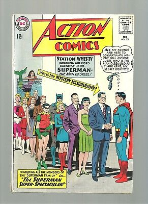 Action Comics Lot #309,342 Lower/mid Grade  Pres Kennedy  Batman N Robin Braniac