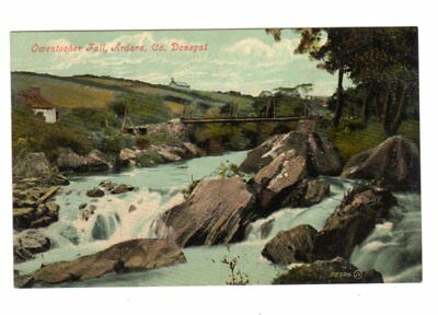 Old Postcard Owentocher Fall Ardara County Donegal Ireland