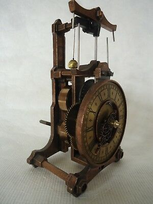 Old Reproduction Swinging Ball Clock. Spares Or Repair