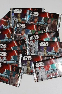 Topps Star Wars Force Attax Cards X 12 Sealed Packets