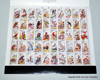 North American Wildlife 1987, Scott #2335a 2286-2335 Pane of 50 Sheet in folder!