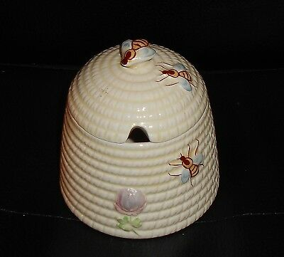 Beswick Beehive Design Pottery Honey Pot Model Number 1819