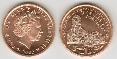 Isle of Man 2002 1 Pence Uncirculated (KM1036)