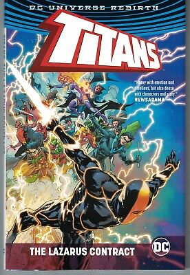 TITANS: THE LAZARUS CONTRACT HARDCOVER (DC - 2017) Deathstroke! Nightwing! HC NM