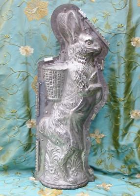 Vintage Chocolate Mold Huge Rabbit Display Show Mold 27 inches 1920's Walter