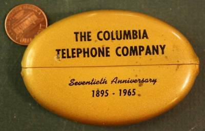 1965 Columbia,Pennsylvania United Telephone 70th anniv.rubber squeeze coinpurse!