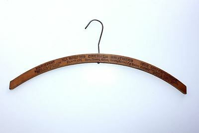 Wood Clothes Hanger DRESHER BROTHERS Omaha NE Farnum ST Hatters Furriers Tailors