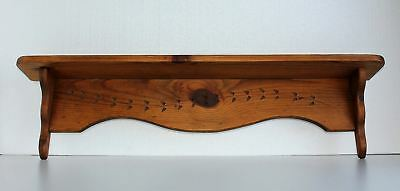 "36"" W Antique East Lake Spoon Carved Type Wood Plate Shelf Figurine Pictures"