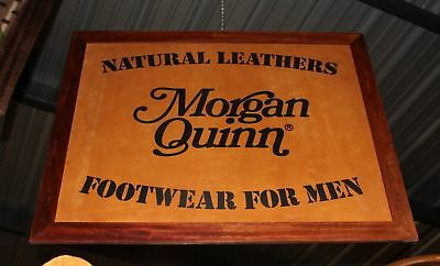 MORGAN QUINN Footwear For Men REAL LEATHER Store Display Advertising Shoe Sign