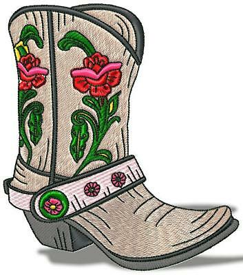 Western Boots 10 Colour And 10 Blackwork Machine Embroidery Designs Cd 3 Sizes