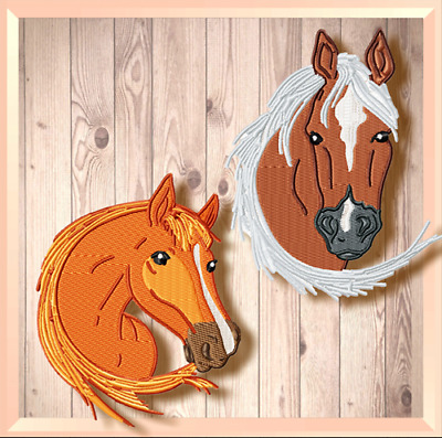Elegant Horses 10  Machine Embroidery Designs Cd 2 Sizes