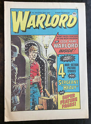 Warlord Comic. 30 April 1983. No.449 Unread/unsold Newsagents Stock Nr Mint. (1