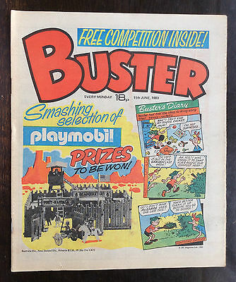 Buster Comic 11 June 1983 Vfn+/nrmint. Unread/unsold Newsagents Stock. (1