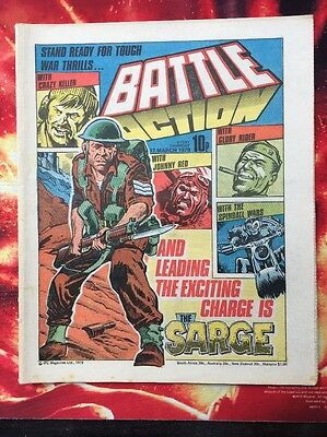 BATTLE ACTION COMIC. 17 MARCH  1979. FN+ CHARLIES WAR. Lovely Condition