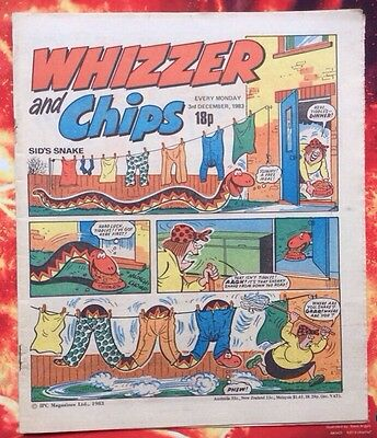 Whizzer And Chips Comic. 3 December 1983 Unread/unsold Newsagents Stock.  Vfn