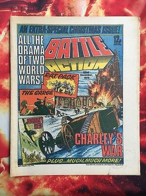Battle Action Comic Christmas Issue 22 Dec 1979. Vfn+  Charley's War.