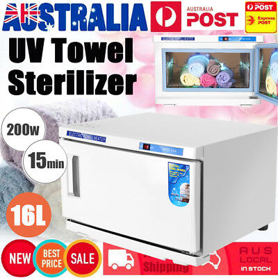16L UV Towel Sterilizer Warmer Cabinet Disinfection Heater Hot Hotel Salon Spa