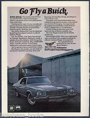 1974 BUICK REGAL advertisement page, Buick Century Regal at airport hanger