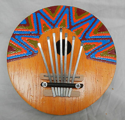 Traditional Coconut African Kalimba / Thumb Piano - Hand Made & Painted - BNWT