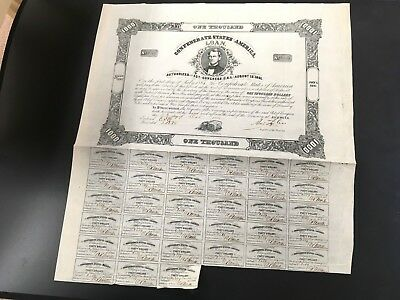 Ball 135 CR-102 $1000 Confederate Bond 1862
