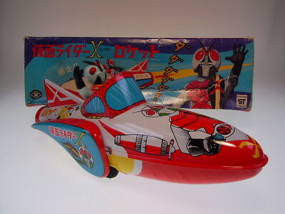 "GS JAPAN HEROES ""KAMEN RIDER X ROCKET RACER"" MODERN TOY JAPAN, NEARLY NEWn BOX !"