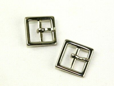 Square Metal Buckle Fastener  Silver BF033 per pack of 2