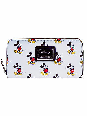 Loungefly Disney Classic Vintage Mickey Mouse All Over Print Vegan White Wallet