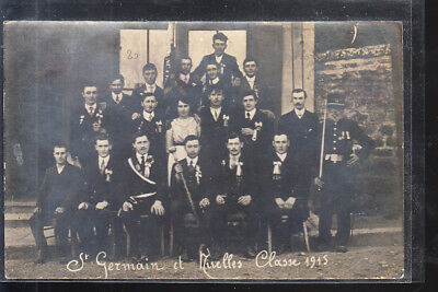 CPA  Photo  St GERMAIN et NIVELLES  Les conscrits de la Classe 1915