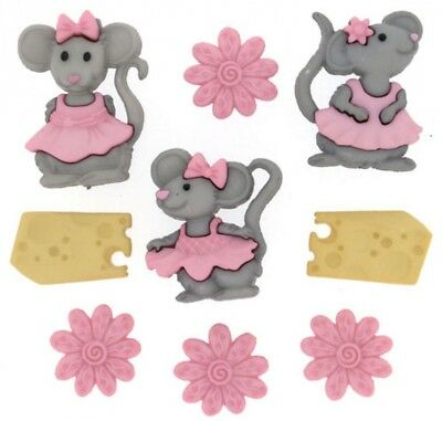 DRESS IT UP Shaped Novelty Buttons Do it yourself-Per Pack of 6 dressitup -...