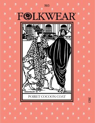 Folkwear Patterns Ladies Sewing Pattern Poiret Cocoon Coat (FWP503)
