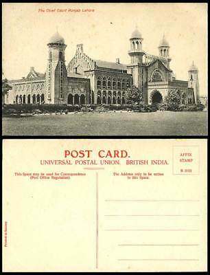 Pakistan Old Postcard The Chief Court Punjab Lahore Law Courts of Justice, India