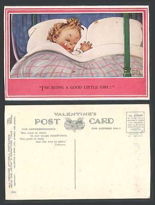 MABEL LUCIE ATTWELL Old Postcard I'se Being a Good Little Girl! Sleep, Tears 399