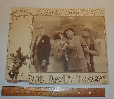 """The Devil's Tower"" - 1928 - BUDDY ROOSEVELT - LOBBY CARD - ONE CARD - As Is"