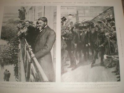 South Africa Boer Generals in Paris and Berlin 1902 prints ref AW