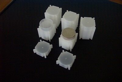 CoinSafe - Square Coin Tubes for 1oz US Silver Eagle Coins   US-MADE  PVC-FREE `