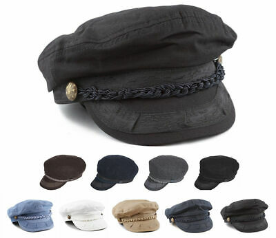 Greek Fisherman Yachting Style Sailing Fiddler Sailor Cap Cotton or Wool Hat 629c4eadf10d