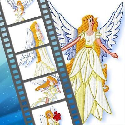 Fine Angels 10  Machine Embroidery Designs Cd 2 Sizes