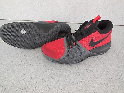 New Mens Size 10.5 Nike Zoom Assersion Basketball Shoes / Red-Black-Grey