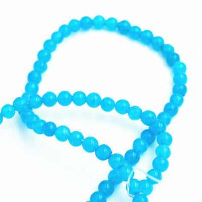 "Natural 4mm South African Blue Jade Gems Round Loose Beads 15"" Y1829"