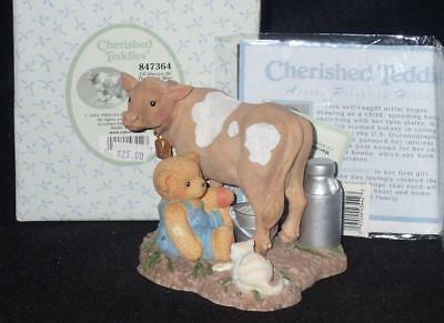 Enesco Cherished Teddies 2002 MacDonald and Bessie Figurine #847364 NEW IN BOX