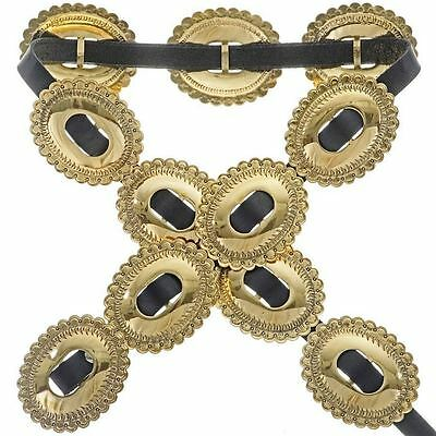 Apache Gold Stamped Concho Belt 1st First Phase Style by Navajo Joey McCray
