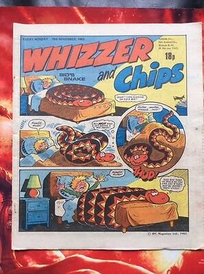 Whizzer And Chips Comic 19 November 1983 Unread/unsold Newsagents Stock. Vfn+