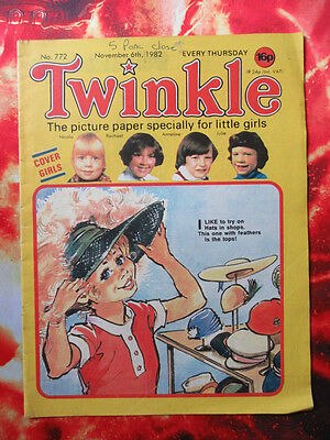 Twinkle Comic No. 772. 6 November 1982. Fn+ Puzzles Not Done.