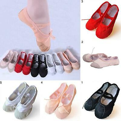 Child Adult Canvas Ballet Dance Shoes Slippers Pointe Dance Gymnastics Striking
