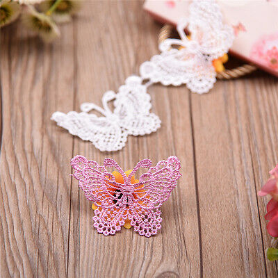 10 pcs Butterfly Flowers Clothing Decor Accessories Water Soluble Lace Ribbon