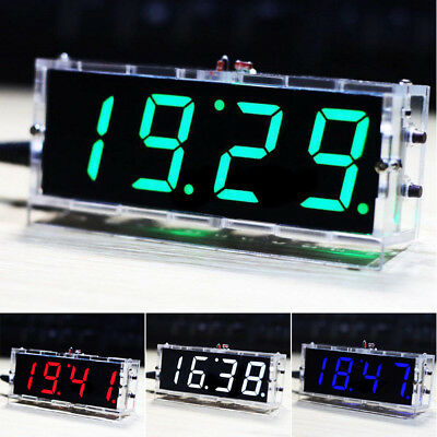 2018 LCD Digital LED Electronic Microcontroller Clock Large Screen Display Time#