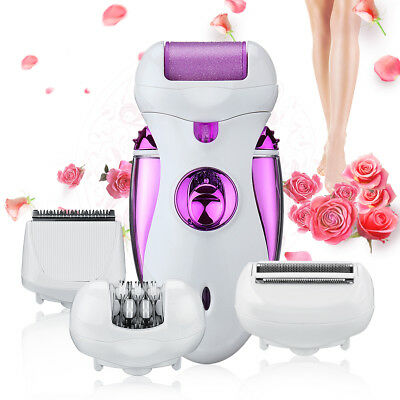 4 in 1 Women Rechargeable Electric Shaver Epilator Hair Remover Foot CareTool