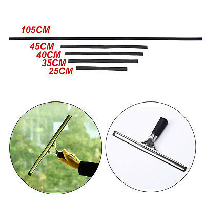5 X Black Replacement Rubber Window Cleaning Equipment Squeegee Blade