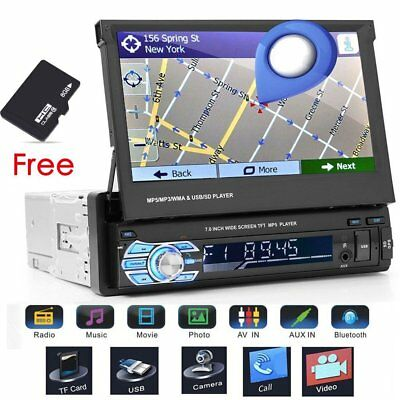 "7"" Autoradio Mit Gps Navigation Navi Bluetooth Touchscreen Usb Sd Mp5 1Din De"